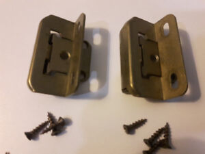 2 Flush Hinges and  2 Wrap Overlay Hinges with mounting screws