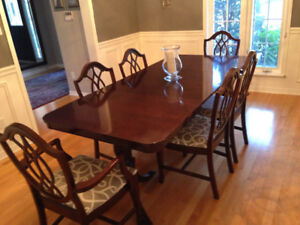 Gorgeous Antique Dining Room Set Plus 6 Chairs
