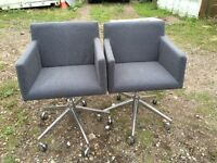 2 X lovely chairs for waiting room reception etc. Delivery.
