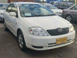 2004 Toyota Corolla ZZE122R Conquest White 4 Speed Automatic Sedan