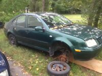 Parting out 2001 VW Jetta