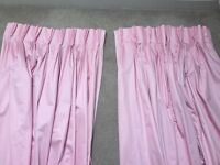 Curtains - baby pink tailor made Martin & Frost