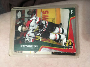 This is the first of three Franklin MacDonald signed hockey card