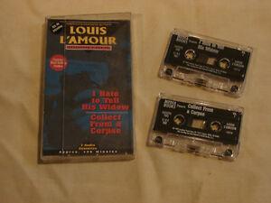 2 Louis L'Amour WESTERN Audio Book RARE CASSETTES Belleville Belleville Area image 3