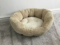**Jumbo cord cream oval cat bed**