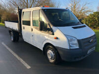 2014 64 FORD TRANSIT TIPPER 350 2.2CDTI 125BHP DOUBLE CAB 1 OWNER UK DELIVERY