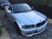 2002 BMW 330CI M SPORT CONVERTIBLE SILVER