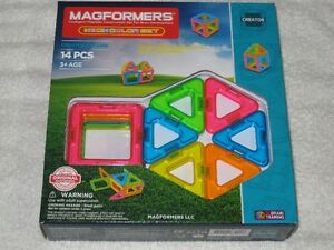 MAGFORMERS (14PC) - MAGNETIC CONSTRUCTION SET (NEON) - BRANDNEW!