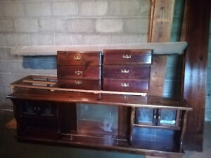 King size waterbed frame and dressers
