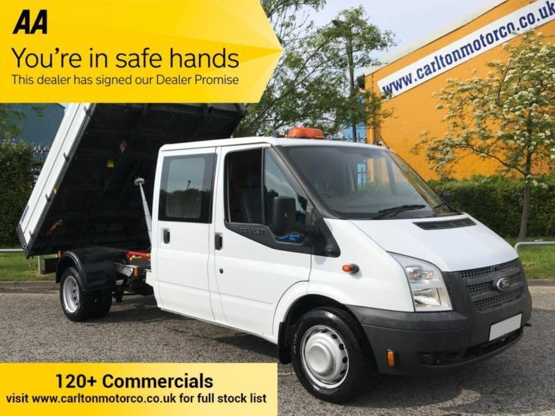 898fa2f9aeb4a8 2014 Ford Transit 2.2 125 T350 LWB Double Cab Tipper   Rear Toolstore DRW