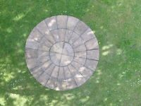 Paving slabs- Decorative circle