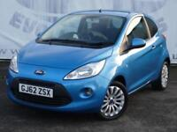 2012 FORD KA 1.2 ZETEC STOP/START 15 INCH ALLOY WHEELS SERVICE HISTORY 2 KEYS HA