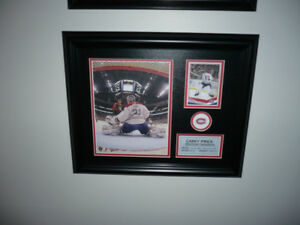 Price & Plante(Montreal Canadians)Framed Pic, Card and Pin Combo