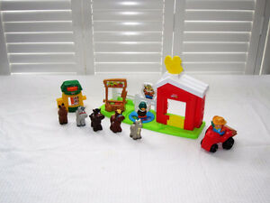 Fisher-Price Little People Barnyard and Veggie Stand