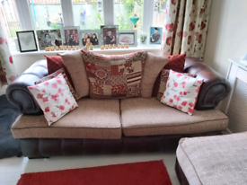 3 seater sofa and extra large footstool