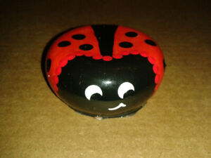 Home Made Hand Painted Lady Bug Garden Stone