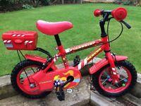 "Boys 12"" Fire Chief bike"