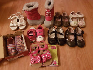 price reduced! Lot of toddler shoes for sale many sizes!!