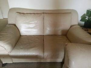 5 seater pure leather sofa + dining table with 2 chairs Guildford Parramatta Area Preview