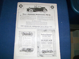 HUPMOBILE-DAIMLER-SUNBEAM-3 VINTAGE ADS-2/1917-COLLECTIBLE!