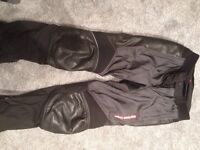Hein Gericke goretex pro sport textile motorcycle trousers - small