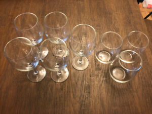 3 Glasses and 5 Wine glasses