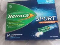 Box 14 Berocca Sport pre-workout Cola Energy Vitamin Powders supplement, enhancement, for Gym, BNIB
