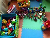 Large mega blok assortment including characters
