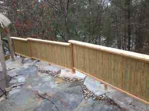 Bamboo fencing and thatch roofing