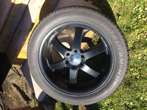 """22"""" Boss 330 rims with tires (305/45r22)"""