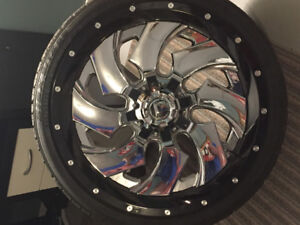 22 inch Fuel Cleaver Rims & Tires ( brand new never used ) 5x127