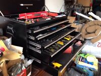 Trade tool chest WITH OUT tools for three wheeler or mini bike.