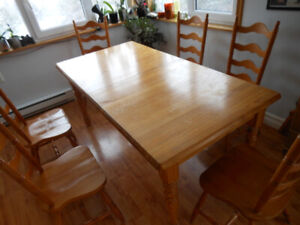 Dining table set with 6 chairs - solid wood