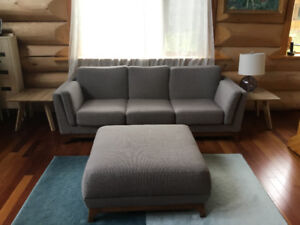 Beautiful Quality Couch and Ottoman