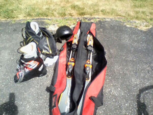 Downhill skis for sale with acceories