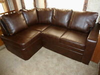 Dark Brown L Shaped Couch for RV