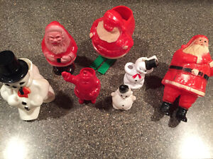 Collection of vintage 60's Christmas decorations