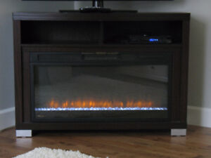 TV/Media Console with Electric Fireplace