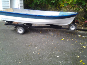 14 ft boat and trailer boat is light weight