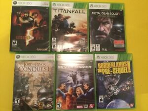Jeux X Box 360: Lord of the Ring - Borderlands, Resident Evil...