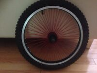BMX front wheel With red Spokes