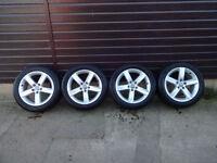 """4 x Genuine Audi Winter Wheels & Tyres 225/50/R17 8K0 071 497 17"""""""