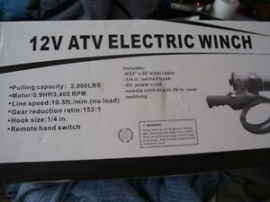 12 VOLT ATV ELECRIC WINCH
