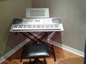 Casio Keyboard CTK-591 wih Stand and Chair