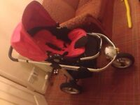 Icandy pram and pushchair with maxi cosi car seat adaptors, collection only