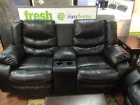 Reclining Leather Sofa/Love Seat