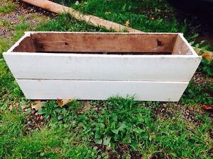 "Vintage Wooden Planting Box, 33.5"" x 11"" x 11"""