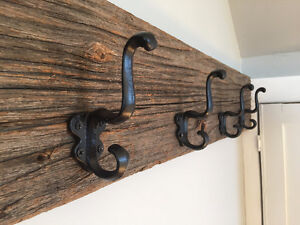 Unique Rustic Reclaimed Barn Board Coat Rack