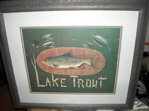 "Framed ""Lake Trout"" Picture"