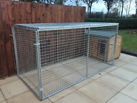 Galvanised 8x4x4 dog pen. Dog run. Puppy pen